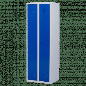 Lockerkast 2 deurs 2 delig - hang & leg -  180x60x50 cm - LKP-1002