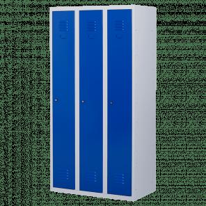 Lockerkast 3 deurs 3 delig - hang & leg - 180x90x50 cm - LKP-1003