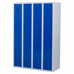 Lockerkast 4 deurs 4 delig - hang & leg - 180x120x50 cm - LKP-1004