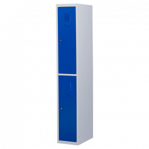 Lockerkast 2 deurs 1 delig - hang & leg - 180x30x50 cm - LKP-1005