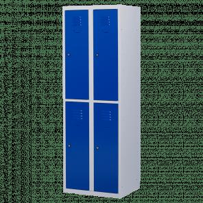 Lockerkast 4 deurs 2 delig - hang & leg - 180x60x50 cm - LKP-1006