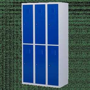 Lockerkast 6 deurs 3 delig - hang & leg - 180x90x50 cm - LKP-1007