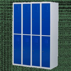 Lockerkast 8 deurs 4 delig - hang & leg - 180x120x50 cm - LKP-1008