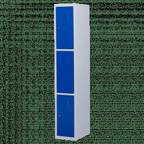 Lockerkast 3 deurs 1 delig - 180x30x50 cm - LKP-1009