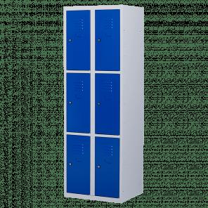 Lockerkast 6 deurs 2 delig - 180x60x50 cm - LKP-1010