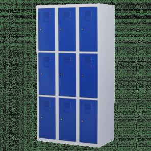 Lockerkast 9 deurs 3 delig - 180x90x50 cm - LKP-1011
