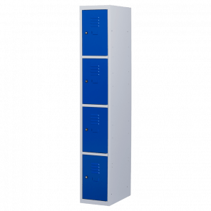 Lockerkast 4 deurs 1 delig - 180x30x50 cm - LKP-1013