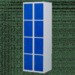 Lockerkast 8 deurs 2 delig - 180x60x50 cm - LKP-1014
