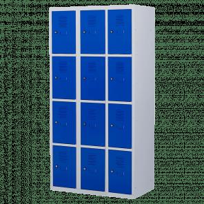 Lockerkast 12 deurs 3 delig - 180x90x50 cm - LKP-1015