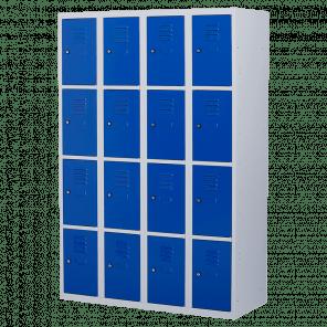 Lockerkast 16 deurs 4 delig - 180x120x50 cm - LKP-1016