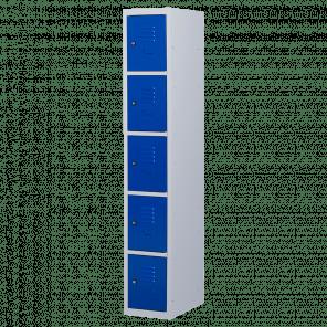 Lockerkast 5 deurs 1 delig - 180x30x50 cm - LKP-1017