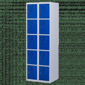 Lockerkast 10 deurs 2 delig - 180x60x50 cm - LKP-1018