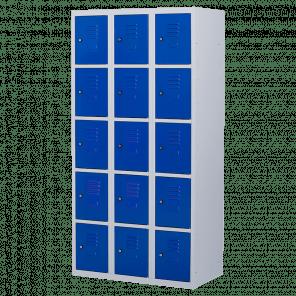Lockerkast 15 deurs 3 delig - 180x90x50 cm - LKP-1019