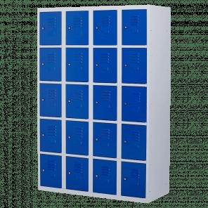 Lockerkast 20 deurs 4 delig - 180x120x50 cm - LKP-1020