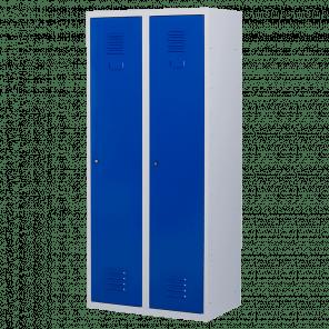 Brede lockerkast 2 deurs 2 delig - hang & leg - 180x80x50 cm - LKP-1052