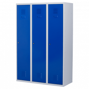 Brede lockerkast 3 deurs 3 delig - hang & leg - 180x120x50 cm - LKP-1053