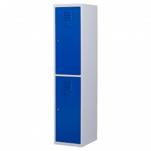 Brede lockerkast 2 deurs 1 delig- hang & leg - 180x40x50 cm - LKP-1054