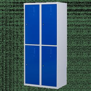 Brede lockerkast 4 deurs 2 delig - hang & leg - 180x80x50 cm - LKP-1055