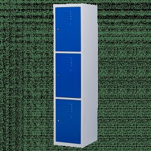 Brede lockerkast 3 deurs 1 delig - 180x40x50 cm - LKP-1057
