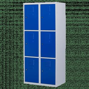 Brede lockerkast 6 deurs 2 delig - 180x80x50 cm - LKP-1058