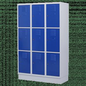 Brede lockerkast 9 deurs 3 delig - 180x120x50 cm - LKP-1059