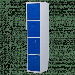 Brede lockerkast 4 deurs 1 delig - 180x40x50 cm - LKP-1060