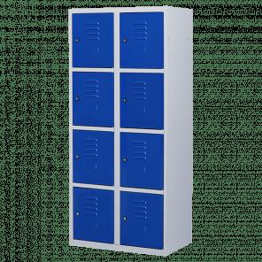 Brede lockerkast 8 deurs 2 delig - 180x80x50 cm - LKP-1061