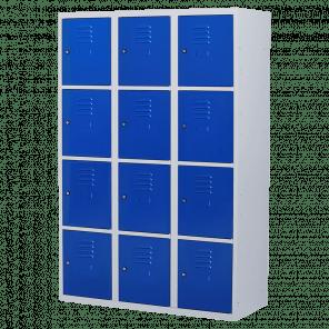 Brede lockerkast 12 deurs 3 delig - 180x120x50 cm - LKP-1062