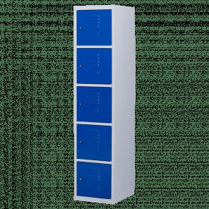 Brede lockerkast 5 deurs 1 delig - 180x40x50 cm - LKP-1063