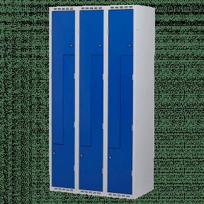 Lockerkast Z-deuren 6 deurs 3 delig - 180x90x50 cm - LKP-1103