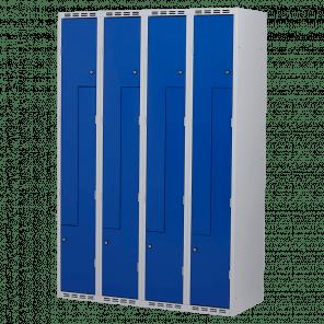 Lockerkast Z-deuren 8 deurs 4 delig - 180x120x50 cm - LKP-1104