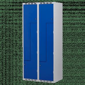 Brede lockerkast Z-deuren 4 deurs 2 delig - 180x80x50 cm - LKP-1152
