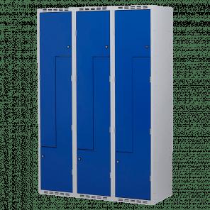 Brede lockerkast Z-deuren 6 deurs 3 delig - 180x120x50 cm - LKP-1153
