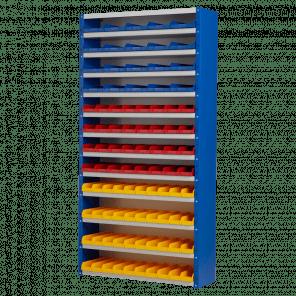 Magazijnkast - 92 bakken - 198x100x30 cm - OMP-503