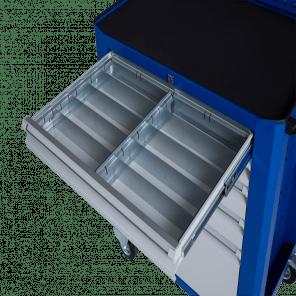 Stalen ladeverdeling gereedschapskar - 10 vaks -  95 mm hoog - GKP-007