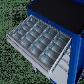 Stalen ladeverdeling gereedschapskar - 20 vaks - 95 mm hoog - GKP-010