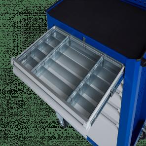 Stalen ladeverdeling gereedschapskar - 15 vaks - 95 mm hoog - GKP-013