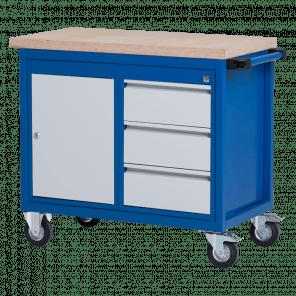Verrijdbare werkbank - 3 laden & deur - VWP-101