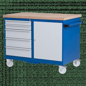 Verrijdbare werkbank - 5 laden & deur - VWP-103
