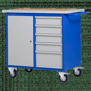Gereedschapswagen werkbank - 5 laden & deur - MWP-102