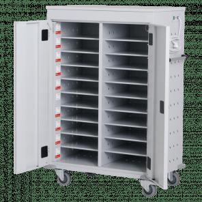 Laptopkar / tabletkar - 20 vakken met oplaad units - 125x92x54 cm - LTP-103