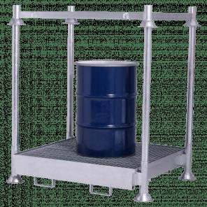 Stapelbare opvangbak - 220 liter - incl. top frame - MOP-108