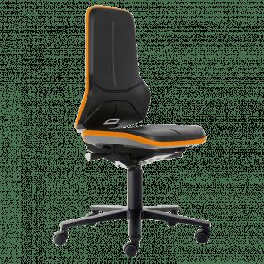 Werkplaatsstoel Neon - permanent contact - wielen - NSP-103