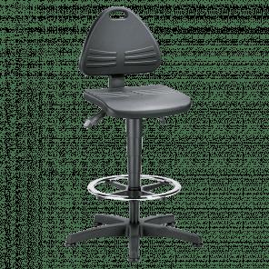 Werkplaatsstoel Isitec - glijders & voetenring - ISP-103