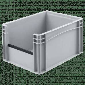 Kunststof stapelkrat grijpopening - 400x300x220 mm - KKP-301