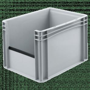 Kunststof stapelkrat grijpopening - 400x300x270 mm - KKP-302