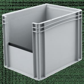 Kunststof stapelkrat grijpopening - 400x300x320 mm - KKP-303