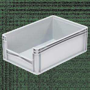Kunststof stapelkrat grijpopening - 600x400x220 mm - KKP-304