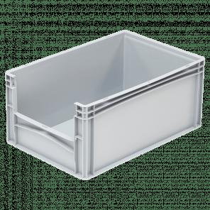 Kunststof stapelkrat grijpopening - 600x400x270 mm - KKP-305