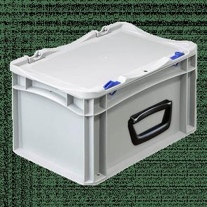 Kunststof stapelkoffer 1 handgreep - 300x200x185 mm  - KKP-405